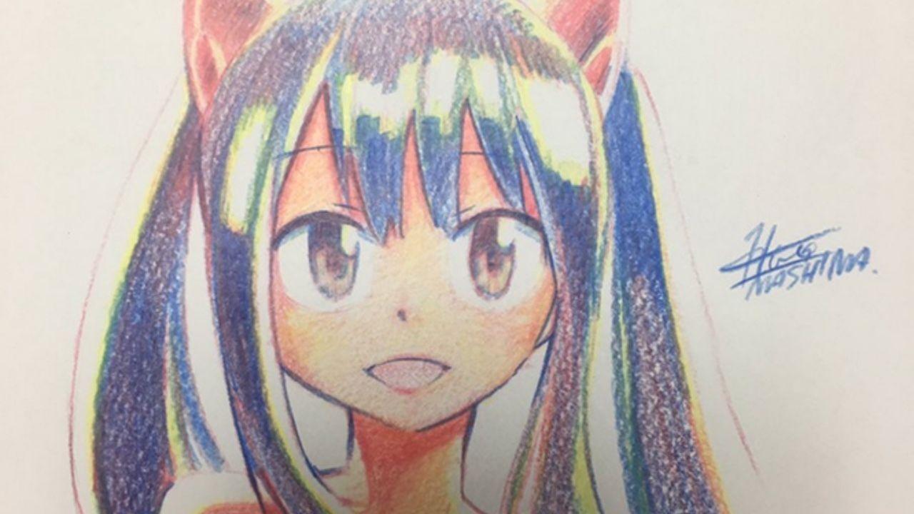 これは凄い…!『FAIRYTAIL』の真島ヒロ先生が3色の色鉛筆だけでルーシィやウェンディを描く!