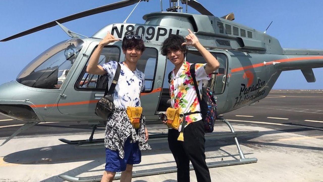 梶裕貴さんと岡本信彦さんがハワイへ!夕日をバックにジャンプしたりインスタ映えしそうな写真を公開!
