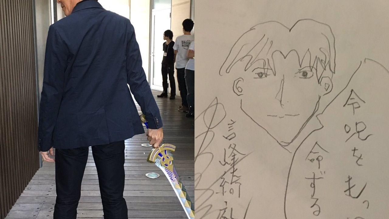 譲治さんかっこよすぎ… 『Fate』のエクスカリバーを手にした中田譲治さん「喜べ少年、君の願いは漸く叶う…」