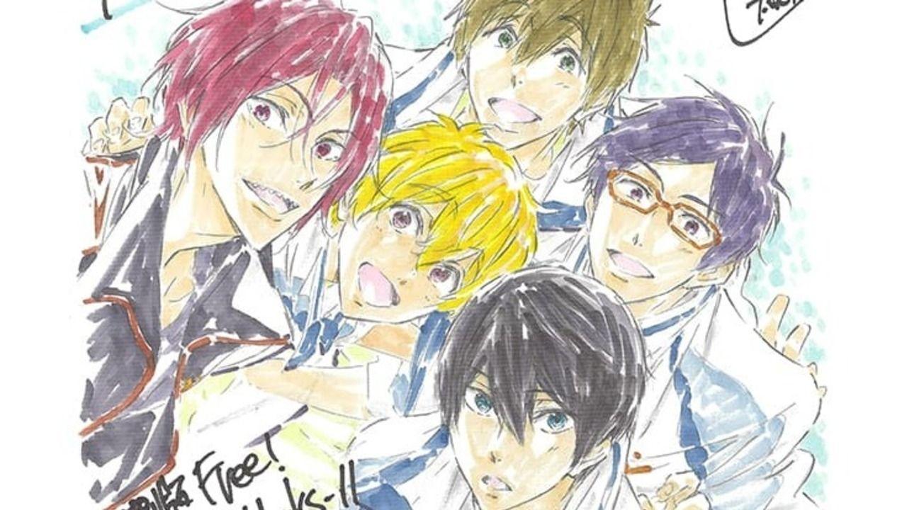 本日より公開の特別版『Free!TYM』を記念して西屋太志さん描き下ろしイラストが到着!久美子と六花からのお祝いも!