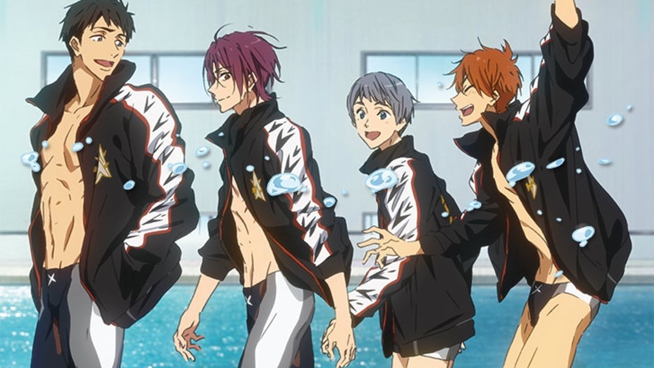 今回もフォトコレクションが素敵すぎ!劇場版『Free!TM 約束』BD&DVDのジャケットは鮫柄の4人が登場!