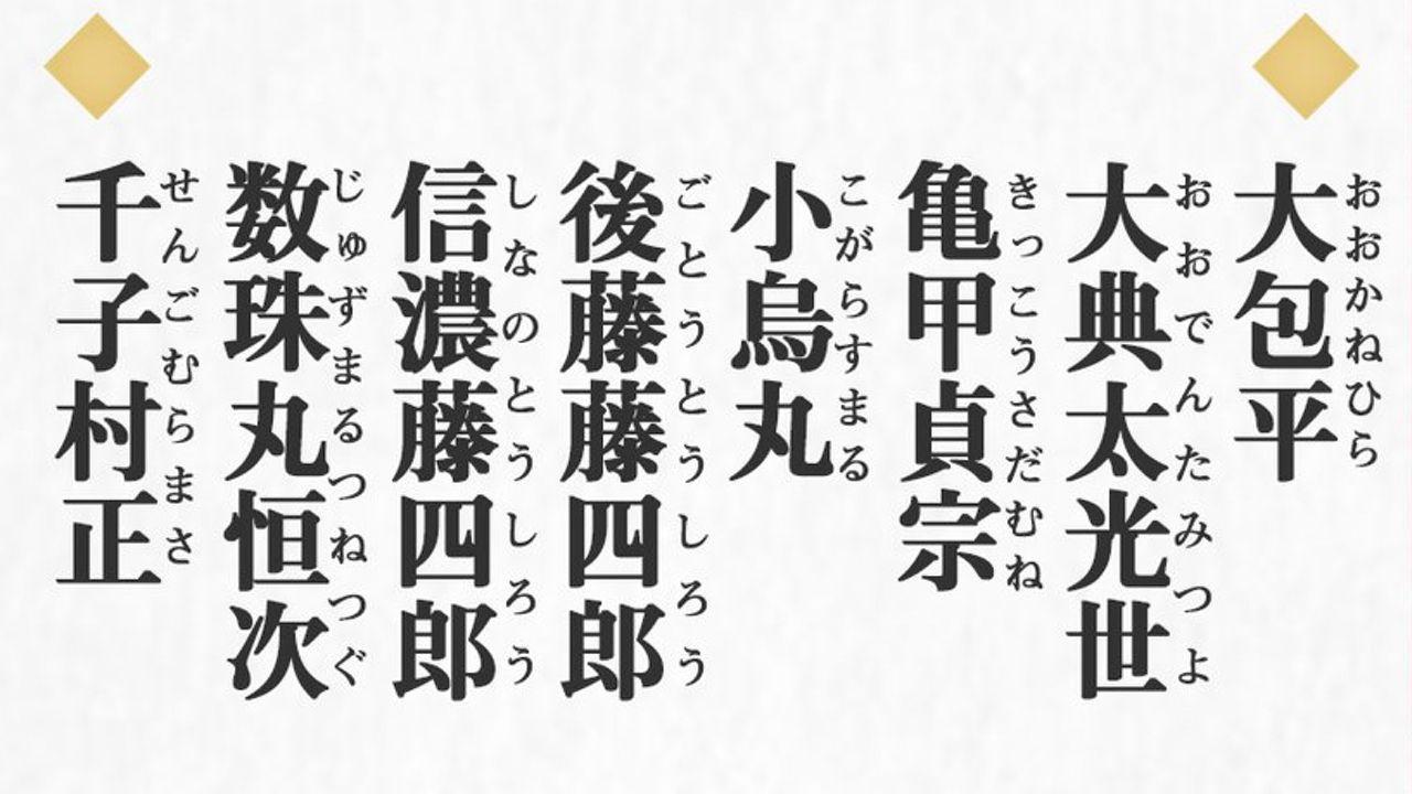 続『刀剣乱舞-花丸-』に登場する新刀剣男士が一挙公開!亀甲貞宗、千子村正ら15振り