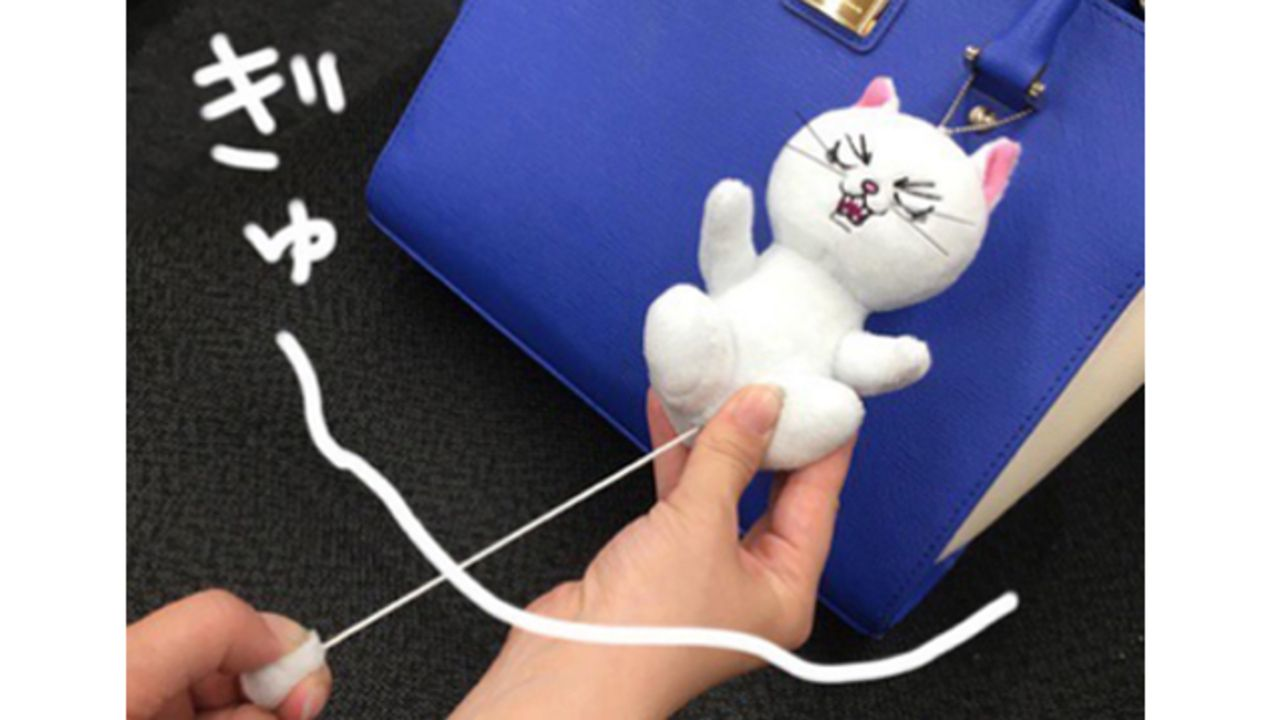 """『銀魂』より銀ねこぬいが発売決定!銀さん(猫)の""""たまたま""""をひっぱって""""ぶるぶる""""させよう!"""