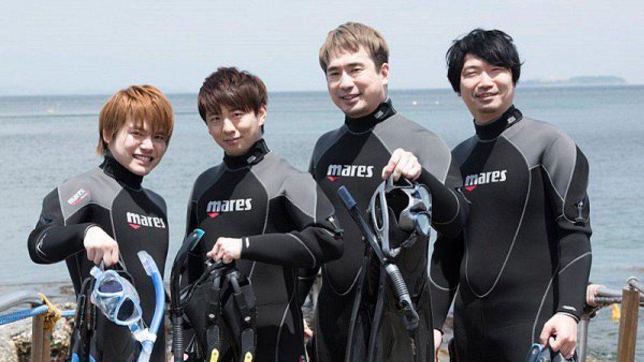 内田雄馬さん、木村良平さんらがダイビングに挑戦する動画が公開!バーベキューにトーク、花火ではしゃぐ姿も!