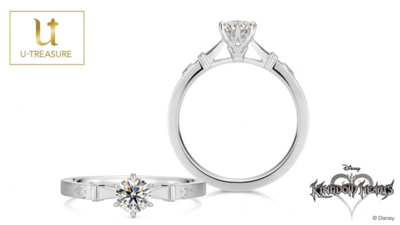 『キングダムハーツ』の婚約指輪が登場!ダイヤモンドの石座には「ソラの王冠」がデザイン