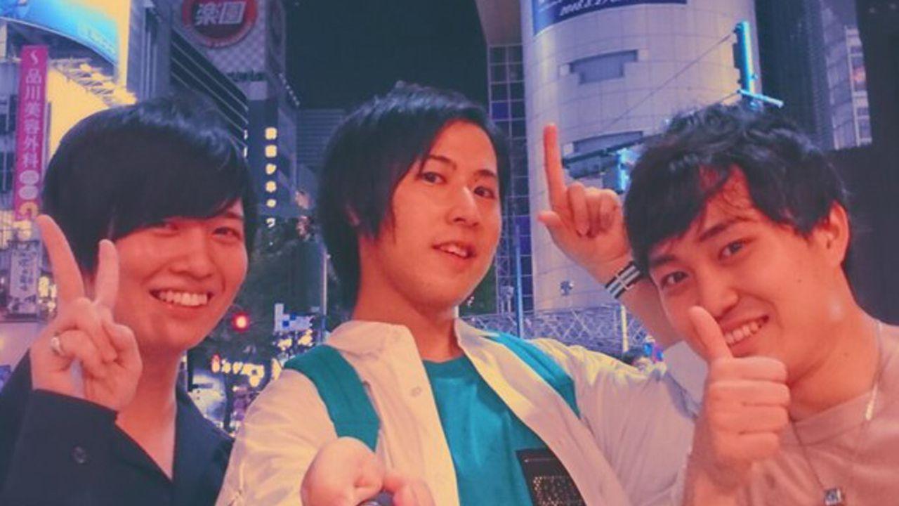 『ヒプマイ』Fling Posseの白井悠介さん、斉藤壮馬さん、野津山幸宏さんがシブヤで撮った自撮り写真を投稿!