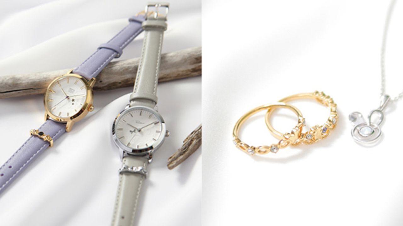 『ツキウタ。』月面をイメージした大人可愛い腕時計&スワロが輝く2連リングとネックレスが各12種類登場!