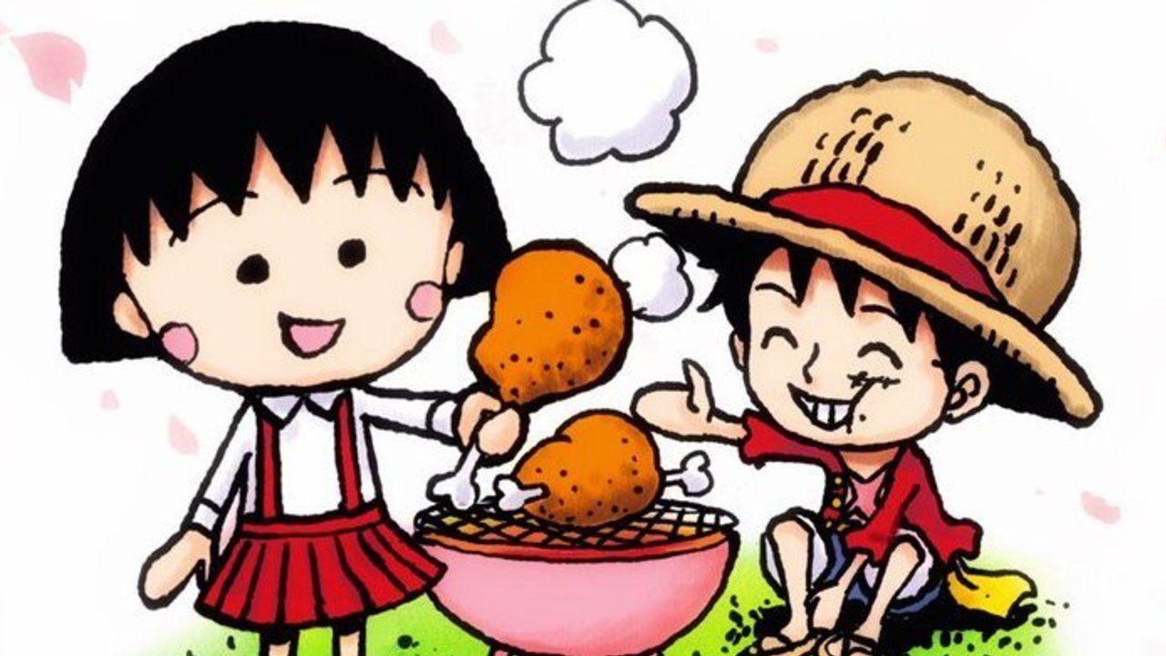 笑顔のまる子とルフィ『ONE PIECE』尾田栄一郎先生がさくらももこさん追悼イラストを投稿