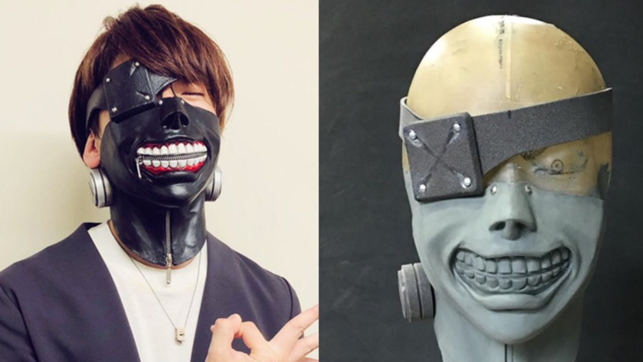 『東京喰種』金木役・花江夏樹さんがオーダーメイドのカネキマスク着用写真を披露!「家宝にします」