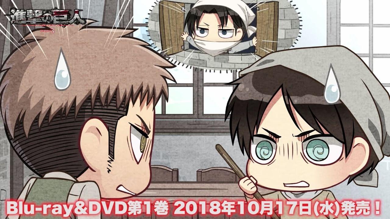 『進撃の巨人』ドラマCD「進撃のスクールカースト」&ショートアニメ「新生リヴァイ班」の紹介動画が公開!
