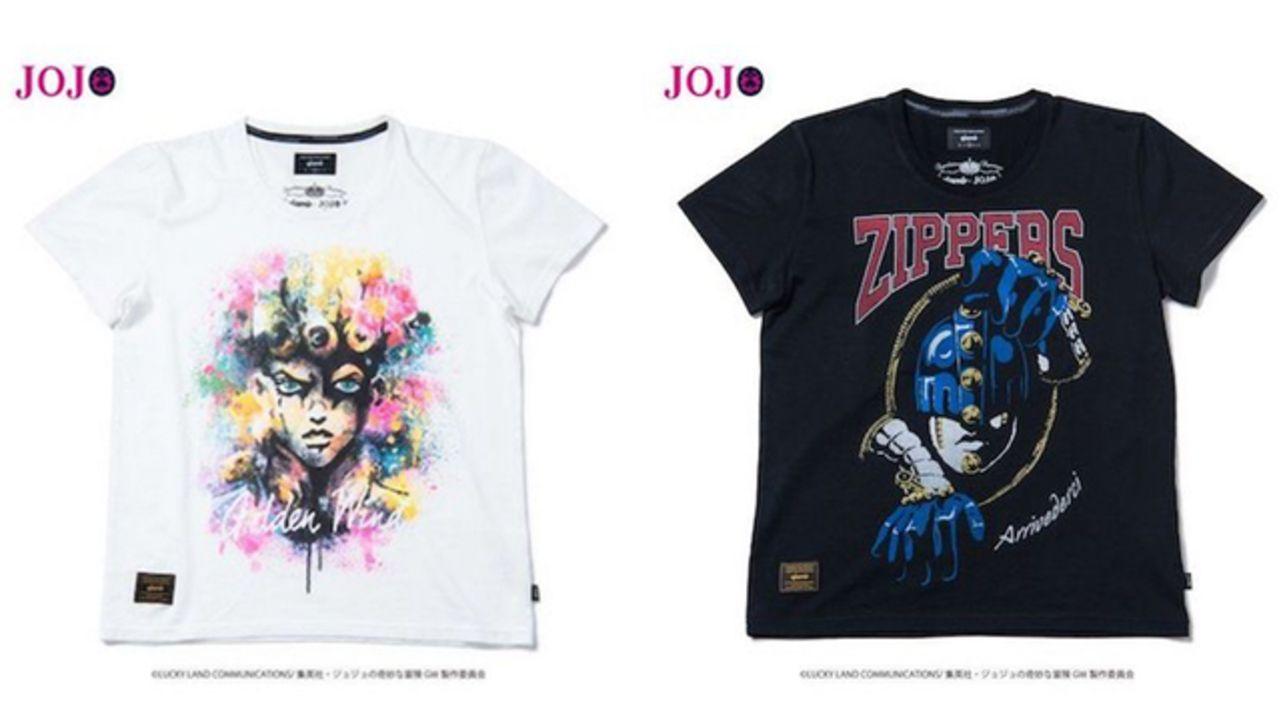 『ジョジョ』5部よりオシャレなコラボTシャツやジョルノとブチャラティをイメージしたアイテムが登場!
