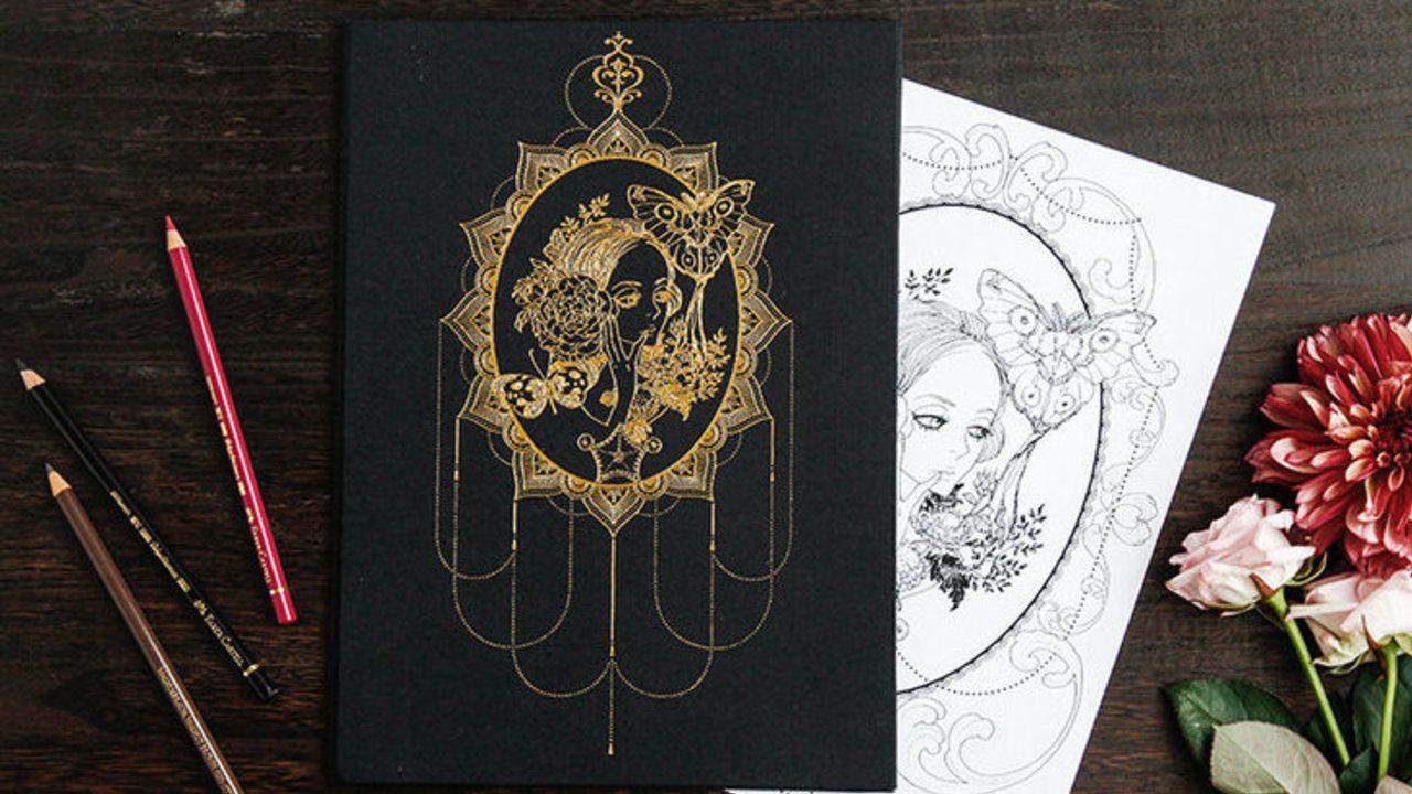『シュガシュガルーン』原作者・安野モヨコ先生の「ぬり絵」が期間限定で販売スタート!金箔が映える特製ケース入り