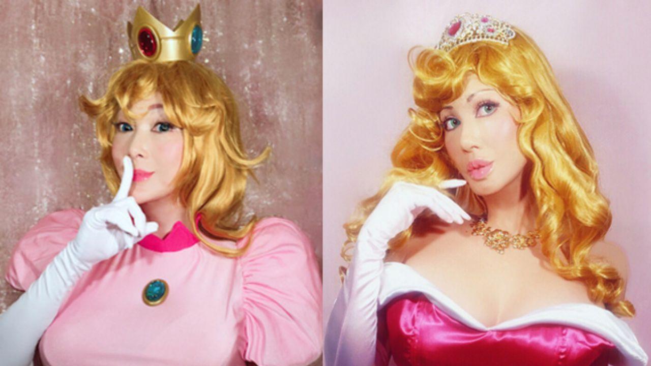 叶姉妹がオーロラ姫&ピーチ姫のコスプレを披露!「DIOの女体化ハイブリットな姉の場合は自分で目を覚ます」