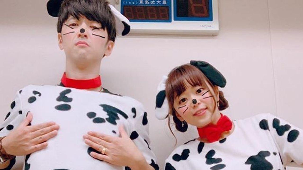 櫻井孝宏さんと井口裕香さんが「ハロウィン」でダルメシアンに仮装!ノリノリで踊る姿も可愛すぎる!