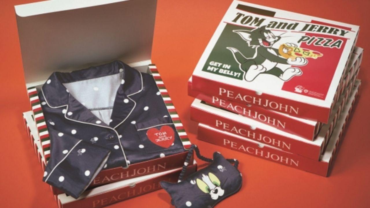 『トムとジェリー』とPEACH JOHNがコラボパジャマが登場!先着でオシャレなピザBOXのラッピングも