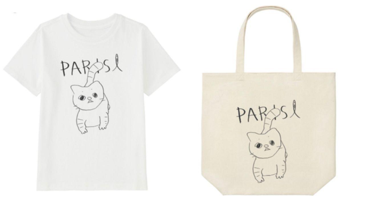 花江夏樹さんがデザインした飼い猫のこんぺい君がグッズ化?!ユニクロにて人気声優陣がデザインしたアパレルアイテムが登場