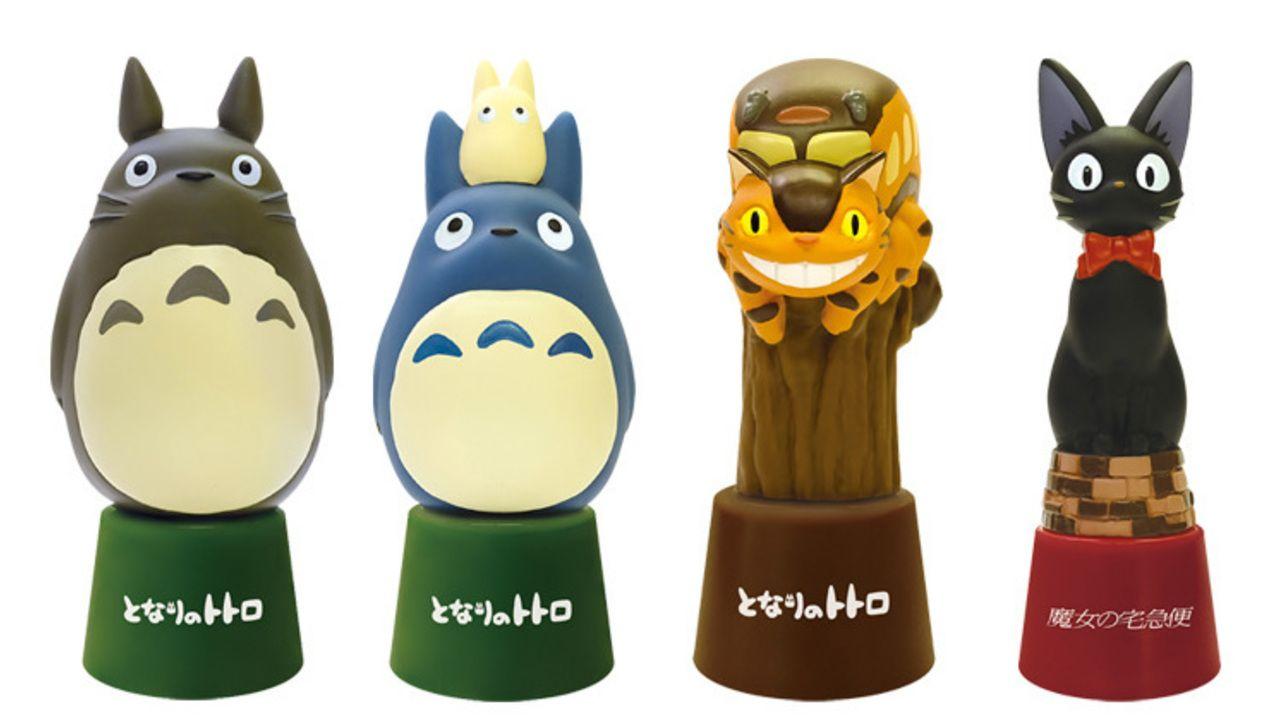 ハンコがトトロやネコバス、カオナシに大変身!癒されちゃうジブリキャラクターのネーム印スタンドが登場!