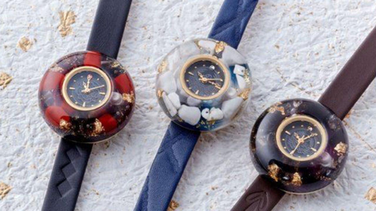 『刀剣乱舞』3振りをイメージした上品な「ドーム型腕時計」登場!文字盤にはそれぞれの紋とスワロがキラリ