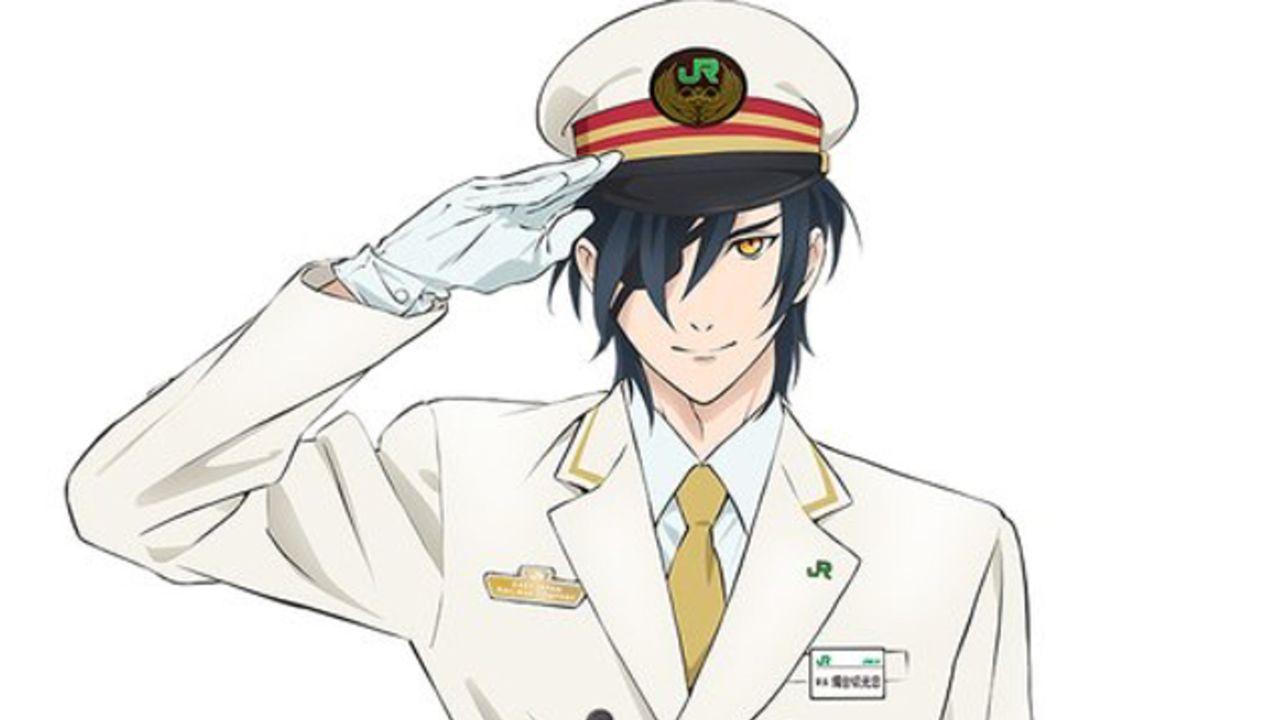 JR駅長に燭台切光忠が特別就任!真っ白なスーツで敬礼する駅長・光忠が「花丸遊印録」一筆箋&ポストカードに!