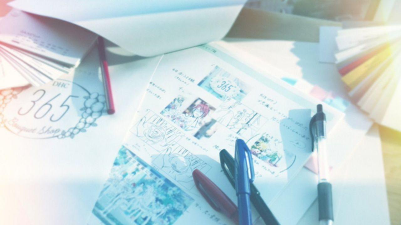 『アイナナ』不思議なブーケショップで働く七瀬陸さんなど「DHC」WEBCMの絵コンテが初公開!「君の素肌に花束を」