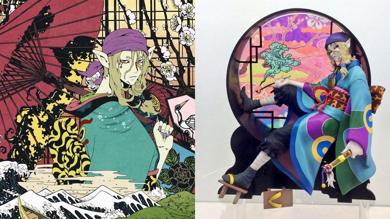 鮮やかな色合いが美しい!『モノノ怪』より薬売りフィギュアの彩色見本公開!「京まふ」にて初展示