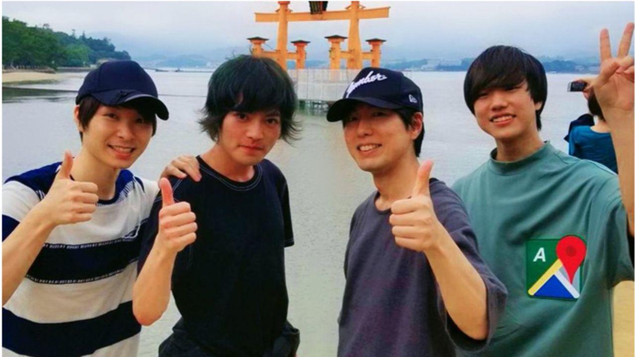 神谷浩史さん&音楽ユニット「SparQlew」メンバー3人のオフショット!広島を楽しそうに観光する写真まとめ