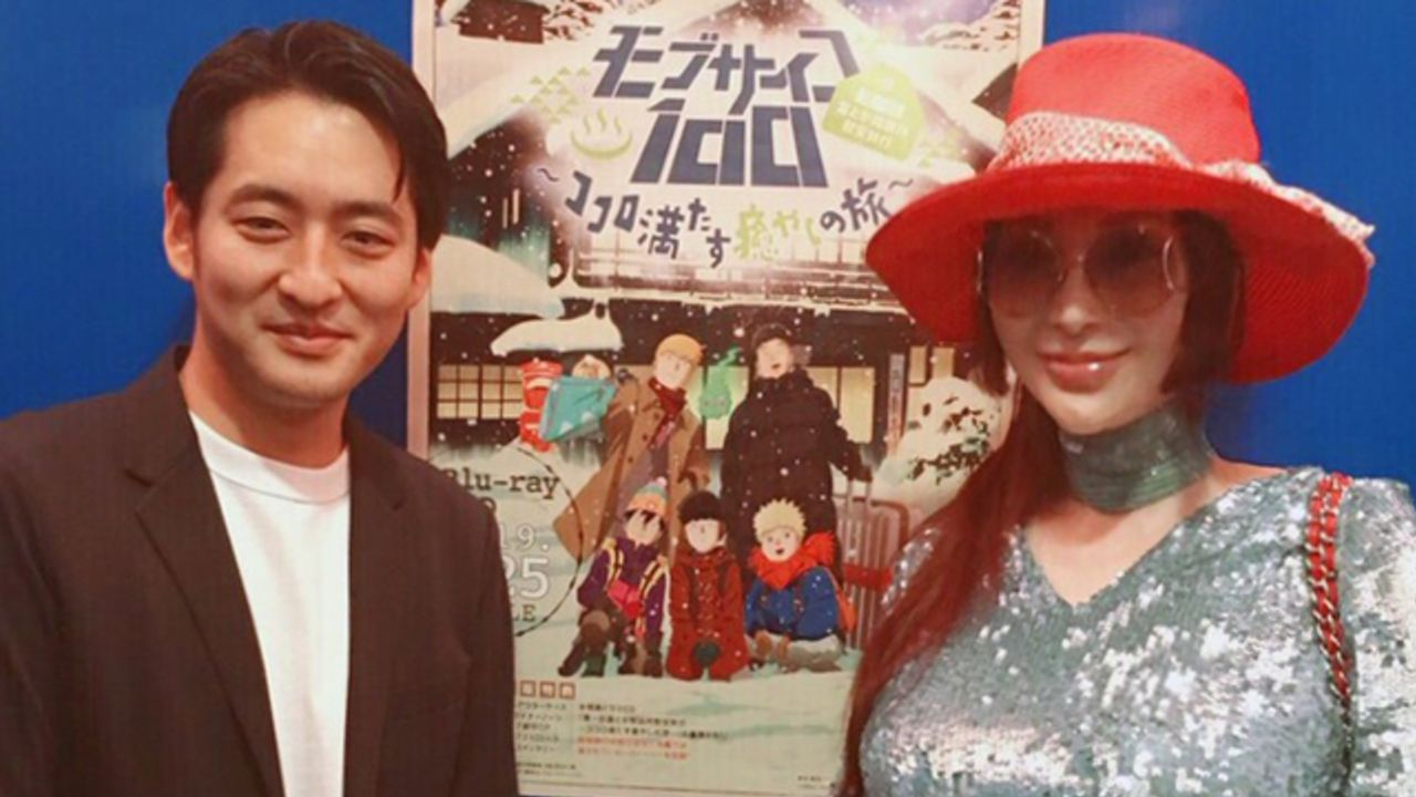 叶姉妹・美香さんが新作OVA『モブサイコ100 II』の試写会に参加!ルイ・ヴィトンがモブらで染まったアイテムも披露