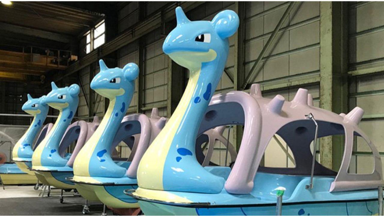 ラプラスに乗れちゃう!?『ポケモン』世界初ラプラスの形をしたサイクルボート&フロートが宮城県に登場!