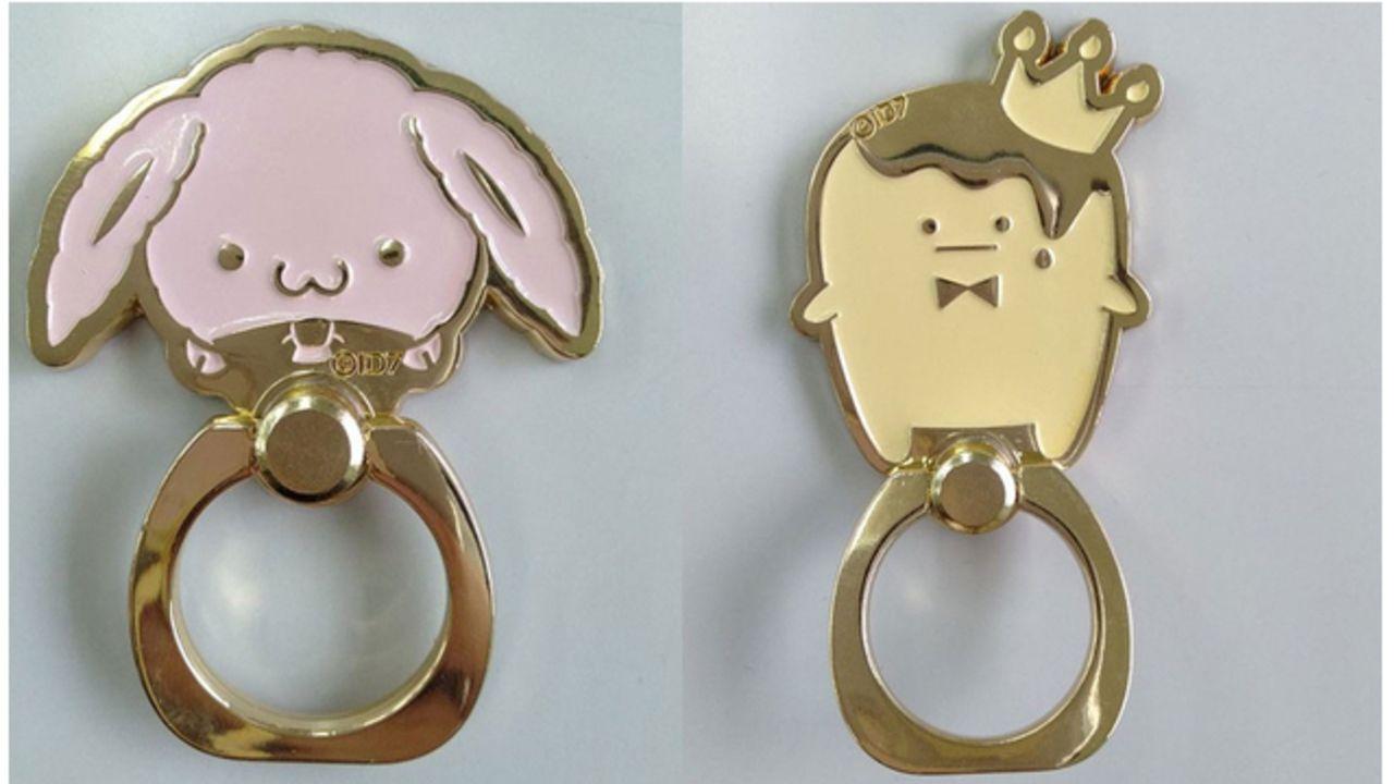 環や一織が好きそう!『アイナナ』きなこ&王様プリンのスマホリングが登場!ゆるい表情に癒される