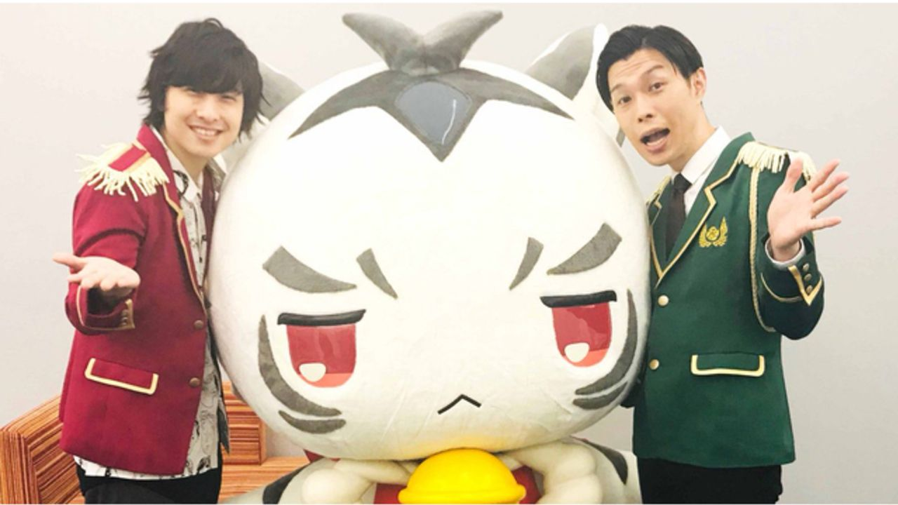 寺島惇太さんとハライチ岩井さんが「プリズムスタァミュージアム」の発表会に登場!制服姿でトラチと記念撮影