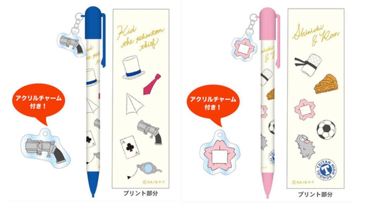 『名探偵コナン』キャラのイメージパーツ付きボールペンが登場!新一&蘭は初恋の思い出の桜バッジパーツ