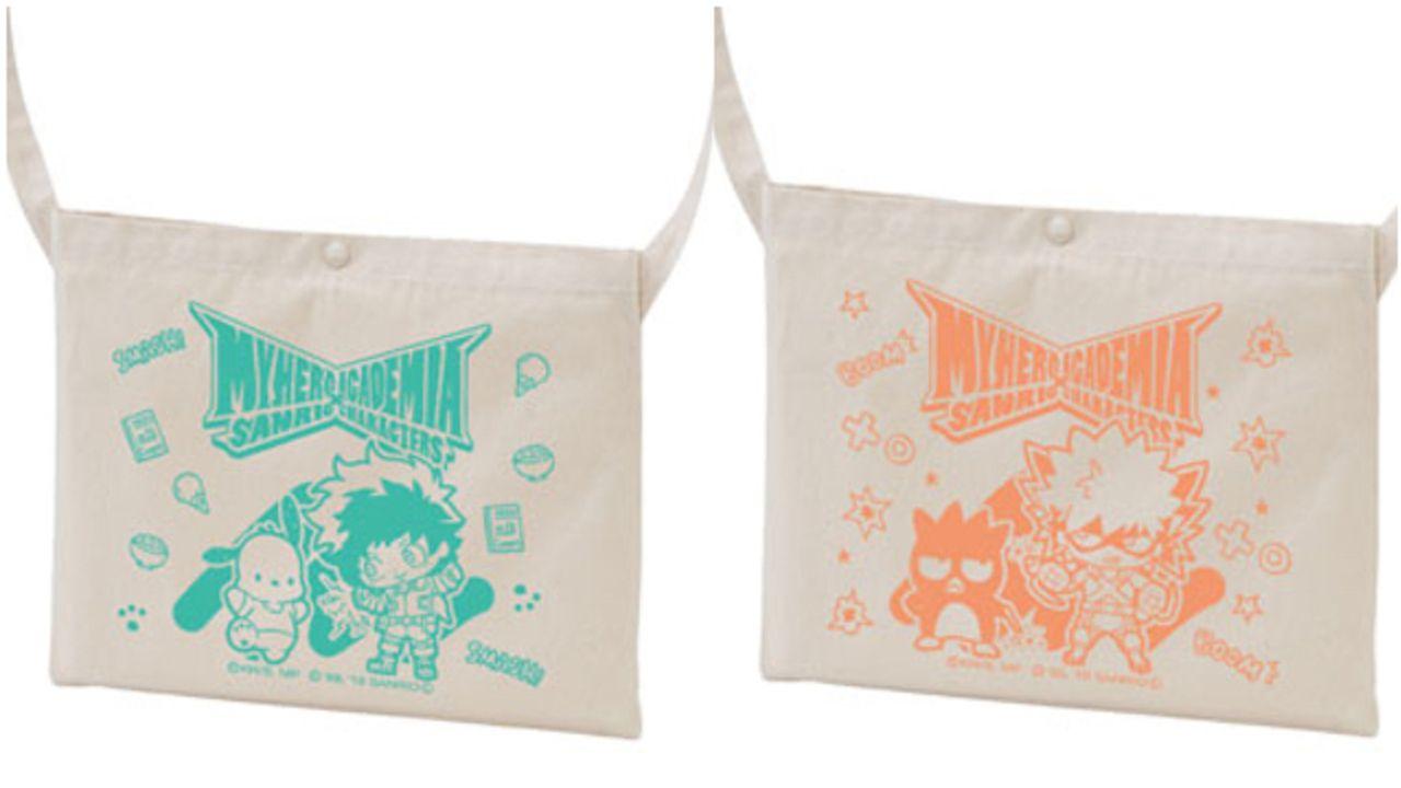 『ヒロアカ』x「サンリオ」キャンバス生地のサコッシュが登場!キャラをイメージしたカラー&モチーフデザイン