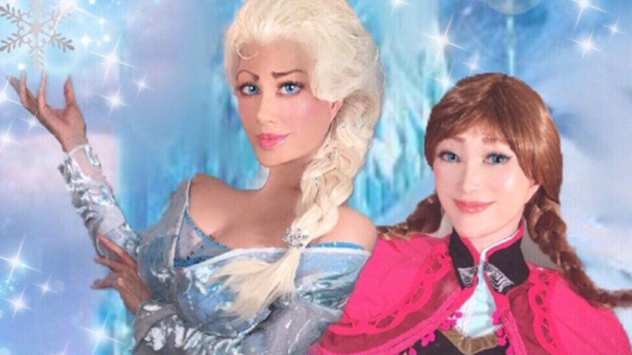 映画の世界から飛び出したの?叶姉妹が今回も熱烈なリクエストを受け『アナ雪』アナ&エルサのコスプレを披露!