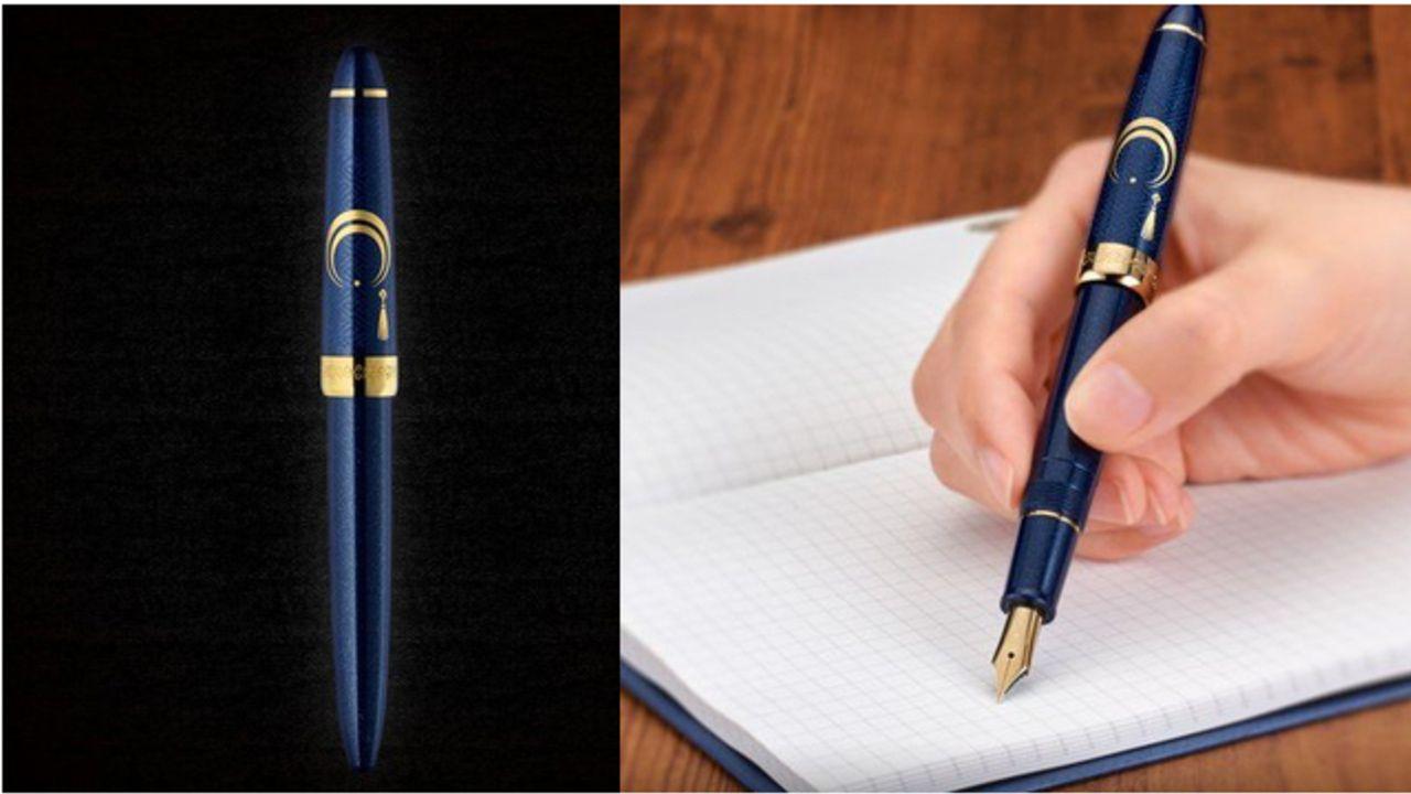 『刀剣乱舞』三日月宗近をイメージした万年筆が登場!角度によって輝きが変化&上品かつ高級感あふれるデザイン