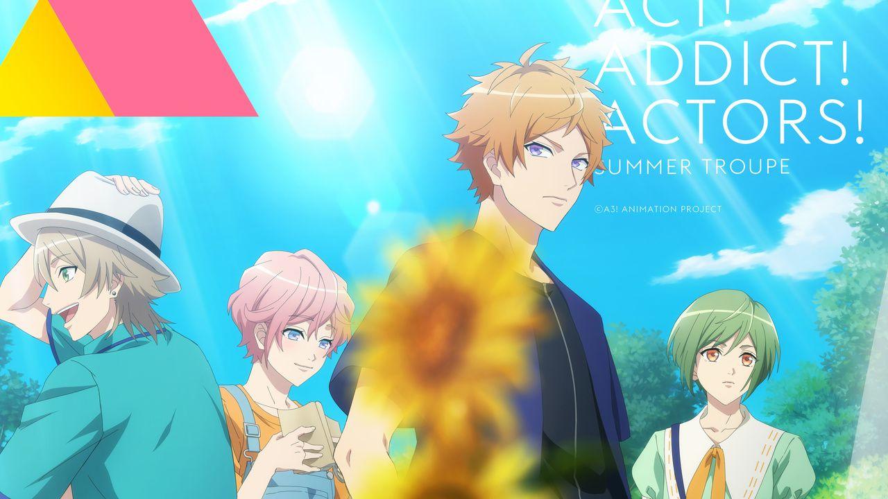 TVアニメ『A3!』皇天馬ら夏組のキービジュアル解禁!夏らしい爽やかなビジュアル&AGFグッズ情報も