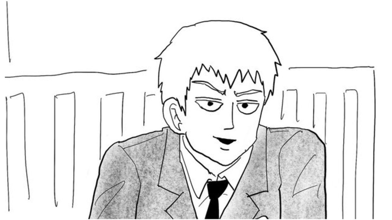 『モブサイコ100』ONE先生が霊幻新隆の描き下ろしイラストを投稿!自分がラーメンを奢ってもらってるような構図にときめく!