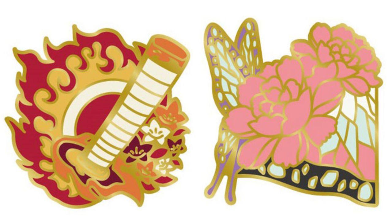 『鬼滅の刃』胡蝶しのぶや煉獄杏寿郎ら鬼殺隊・柱のピンズが登場!羽織やモチーフをイメージしたおしゃれなデザイン