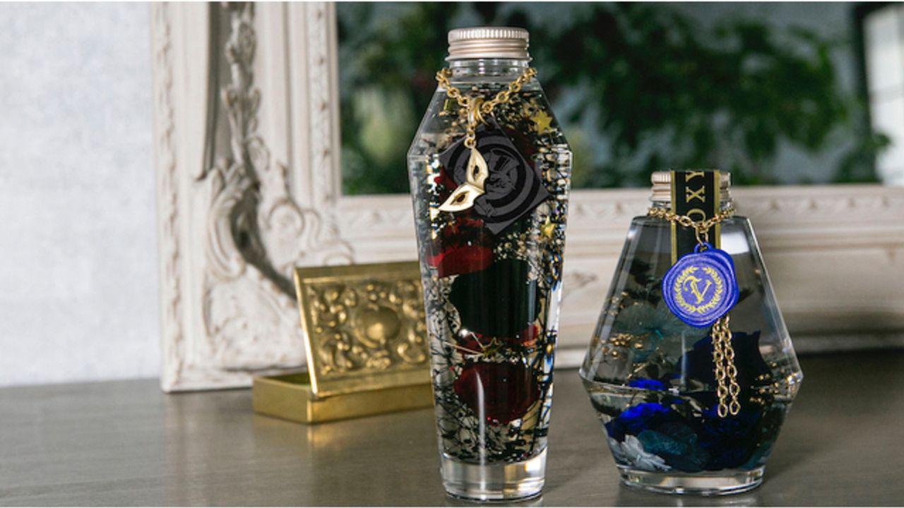 『ペルソナ5』⾬宮蓮&ベルベットルームをイメージしたハーバリウムが登場!黒と青を基調としたスタイリッシュなデザイン