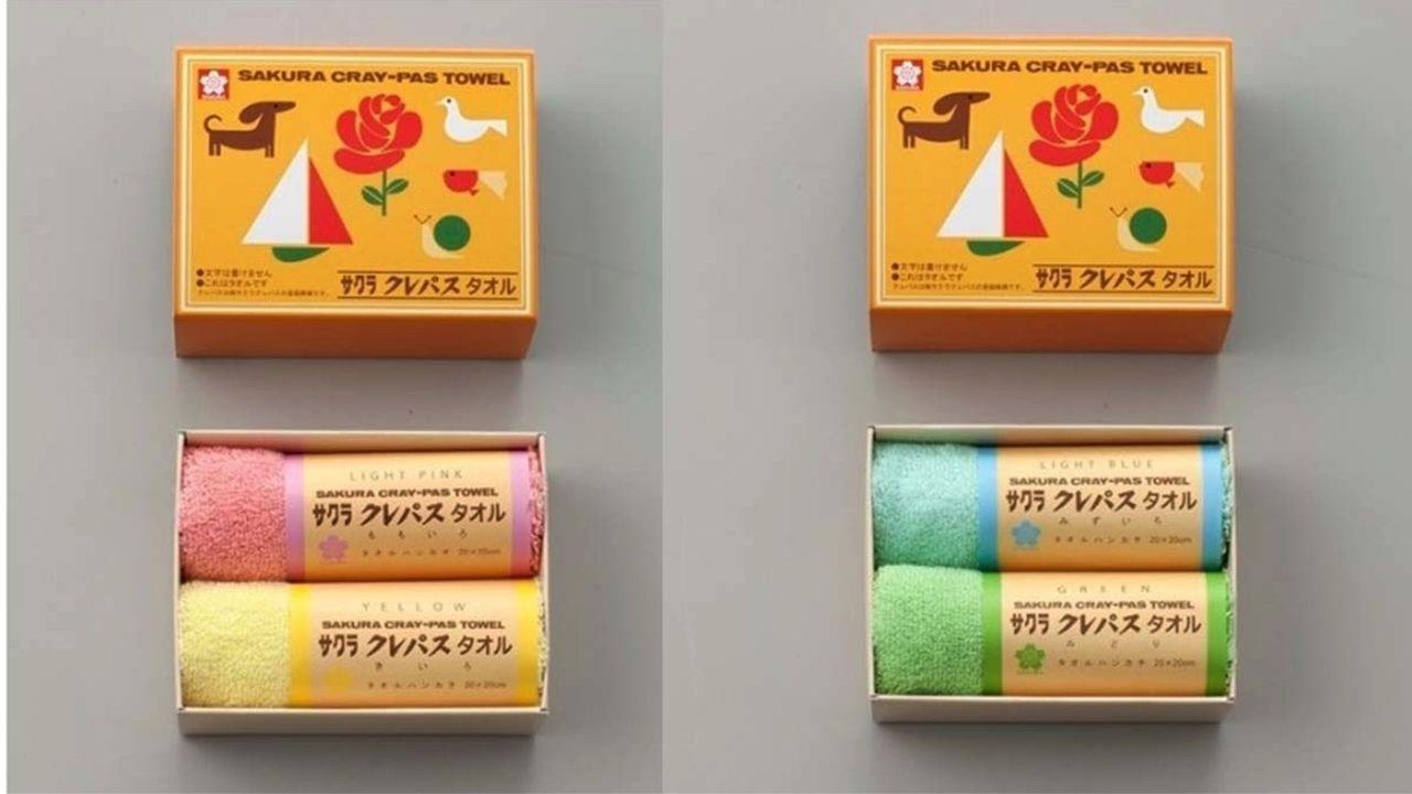 クレパス風タオル!?「サクラクレパス」3種類のタオルギフト登場!優しい色味&懐かしいデザインにほっこり