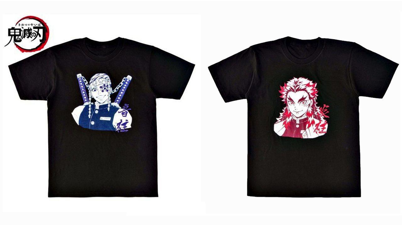『鬼滅の刃』ブラックベースのスタイリッシュな柱Tシャツ登場!宇随天元・煉獄杏寿郎ら9種&ジャンフェス2020で先行販売決定