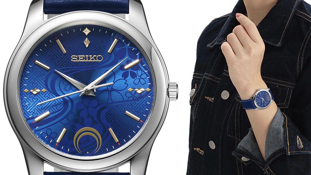 『刀剣乱舞』x「セイコーウォッチ」優雅なコラボ腕時計登場!刀身の秒針&青い文字盤の三日月宗近モデル