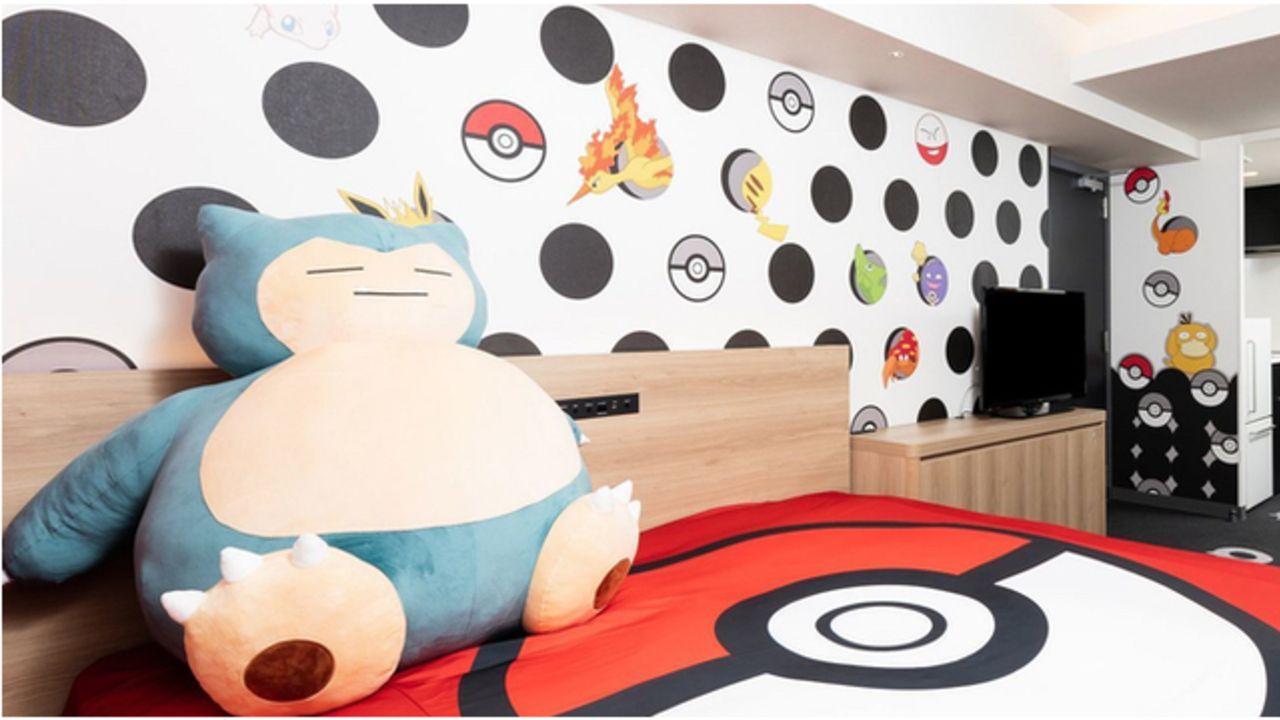 巨大なカビゴンぬいぐるみ&壁一面のポケモンたち!東京・京都に作品の世界観を楽しめる「ポケモンルーム」が登場