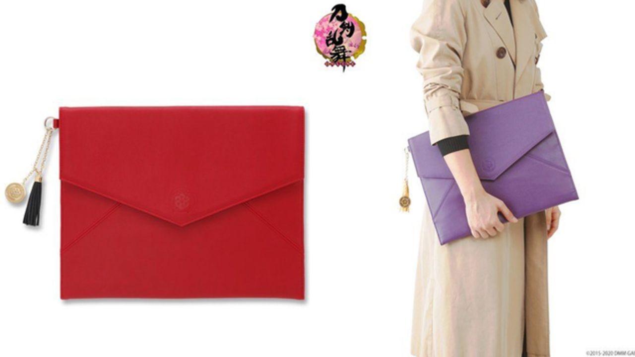 『刀剣乱舞』紋のエンボス加工がオシャレなクラッチバッグ全5種発売!高級感溢れるタッセルチャーム付き