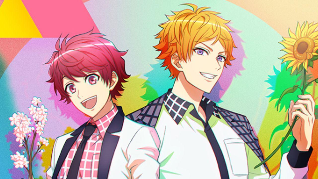アニメ『A3!』桜と向日葵を手にした咲也&天馬のキービジュアル到着!全国で広告展開&OP主題歌ジャケットも公開