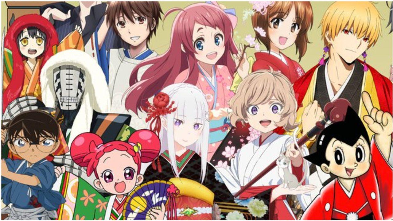 """テーマは""""和""""「AnimeJapan 2020」和服姿の江戸川コナンやギルガメッシュ!総勢22作品のキャラが集結したキービジュ公開!"""