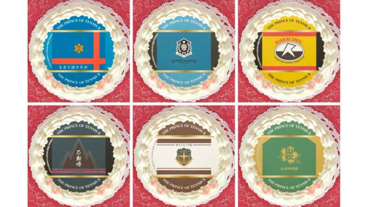『テニプリ』各学校旗デザインのプリケーキ発売!購入特典は缶バッジ&カラフル可愛いマカロンセットも登場