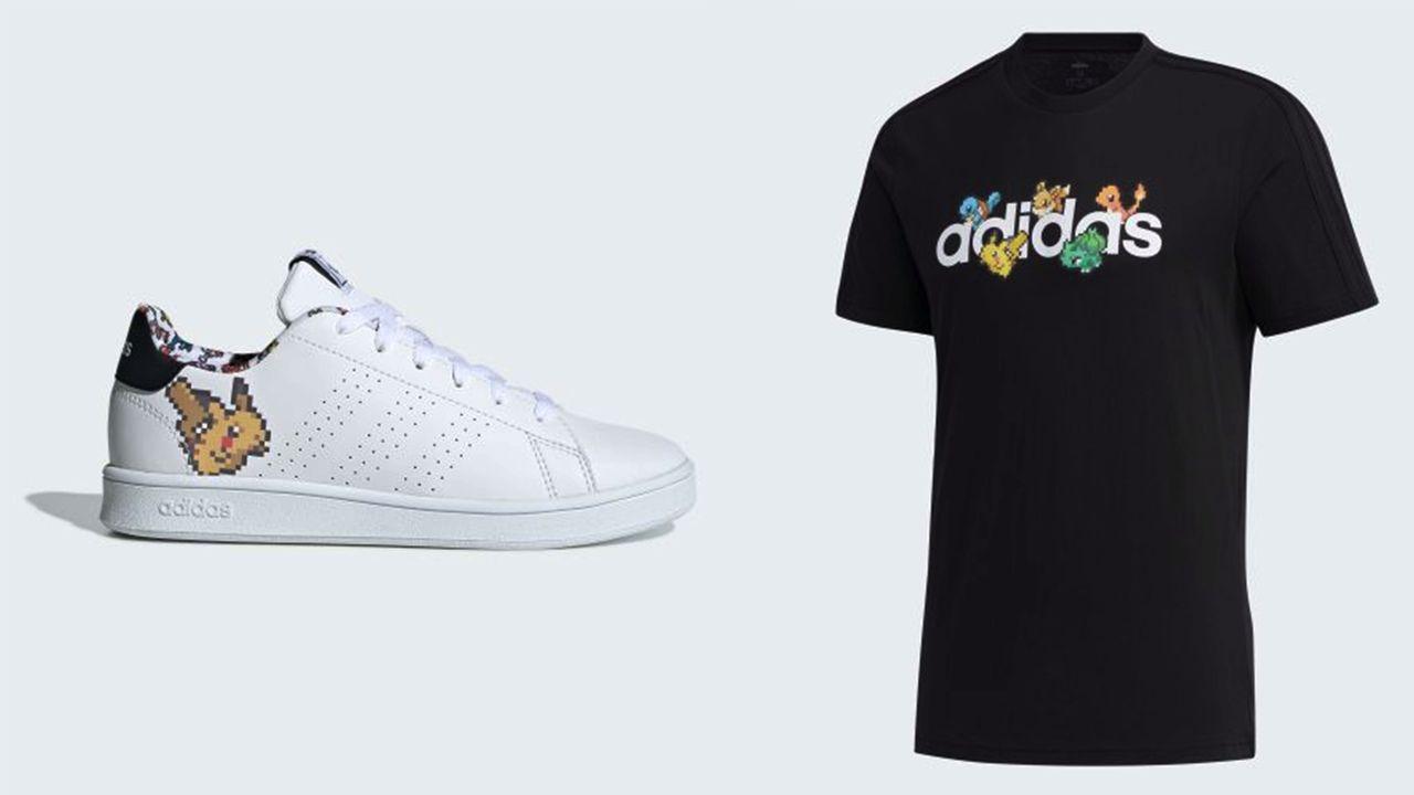 『ポケモン』x「adidas」ドット絵が可愛いコラボアイテム登場!シューズやTシャツなどラインナップ