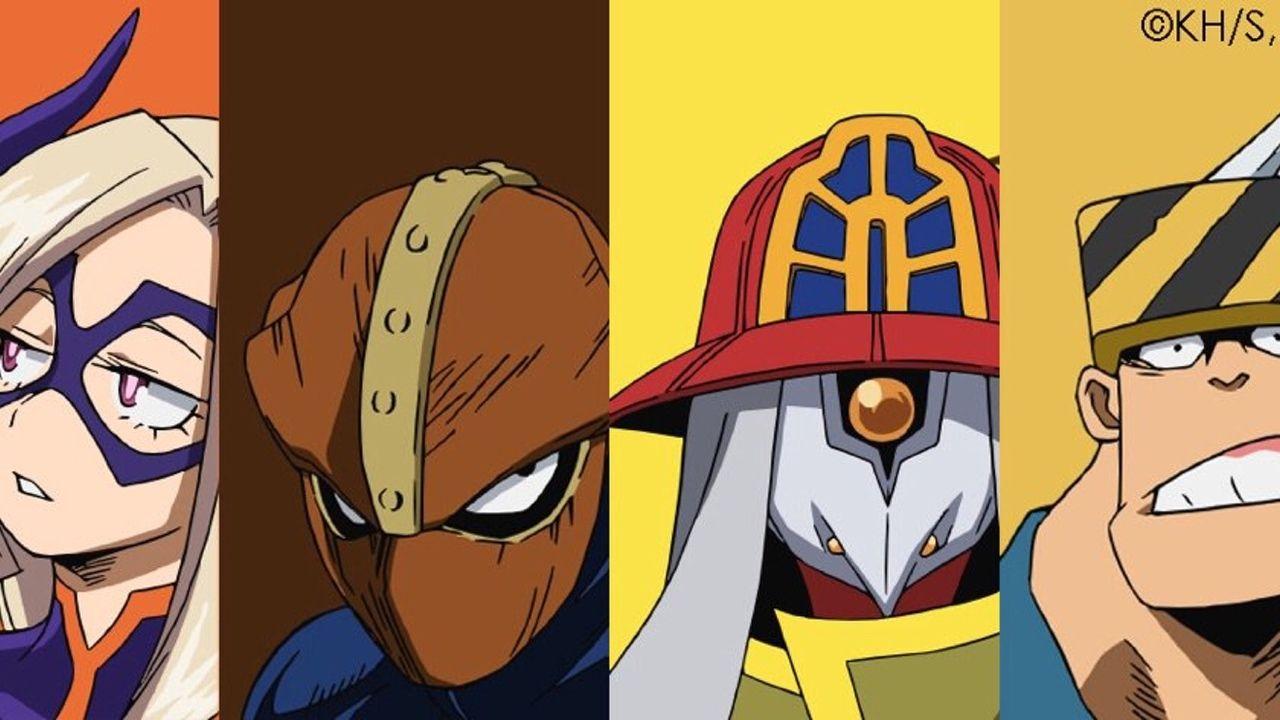 TVアニメ『ヒロアカ』の最新キャラビジュアル登場!遂にプロヒーローが登場!