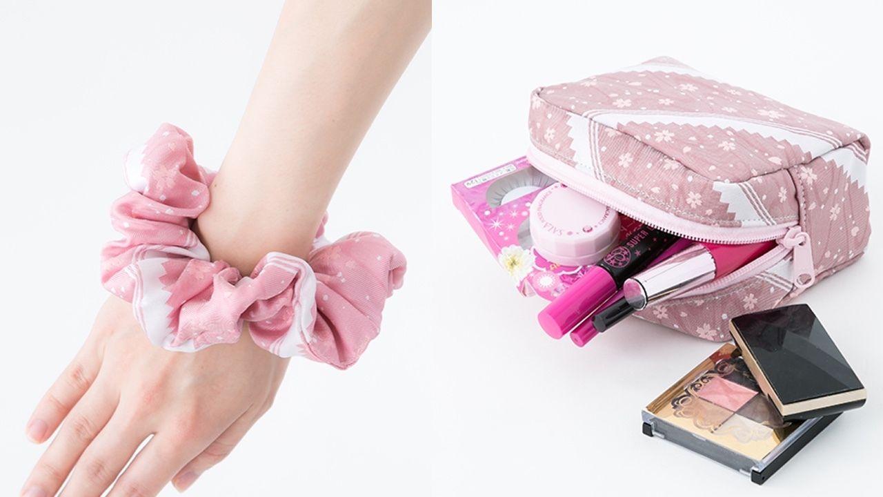 『薄桜鬼』のファッショングッズが登場!桜とだんだら模様がデザインされた優雅なアイテム。