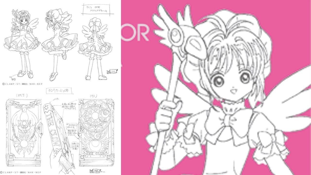 『CCさくら』お宝本!?アニメの資料集3冊!色が付く前でもかわいい!